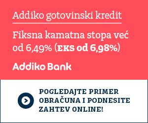 Addiko gotovinski kredit