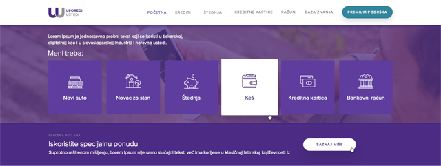 Silent branding - homepage